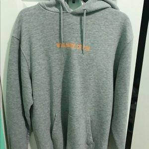 NWOT oversized Gray hoodie